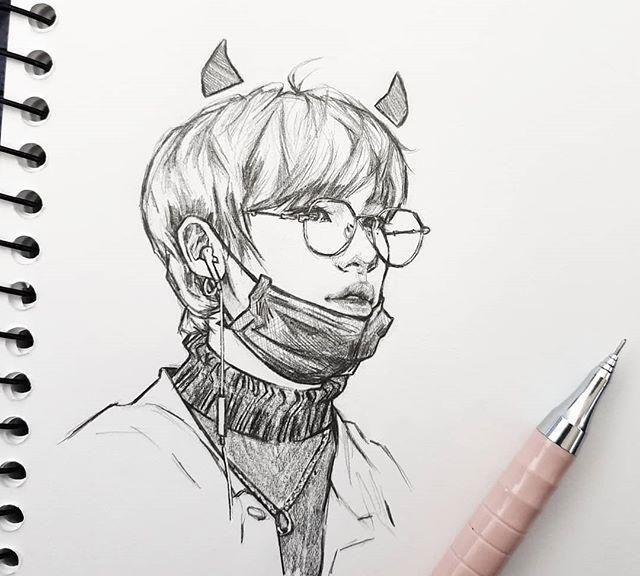 铅笔人物手绘,可爱帅气的男孩子