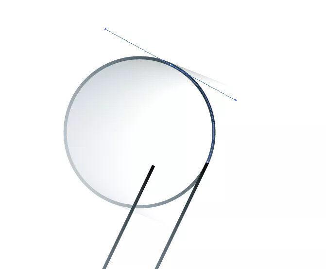 复制一条线段,并用钢笔工具沿着阴影的切线补充线段.图片