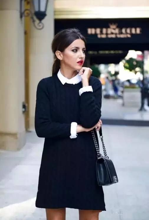 毛衣搭配衬衫,开启你秋天的文艺时尚