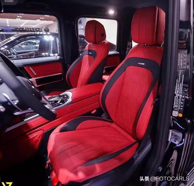 实拍 | 奔驰-AMG G63,外黑内红堪称完美,教你如何做真男人