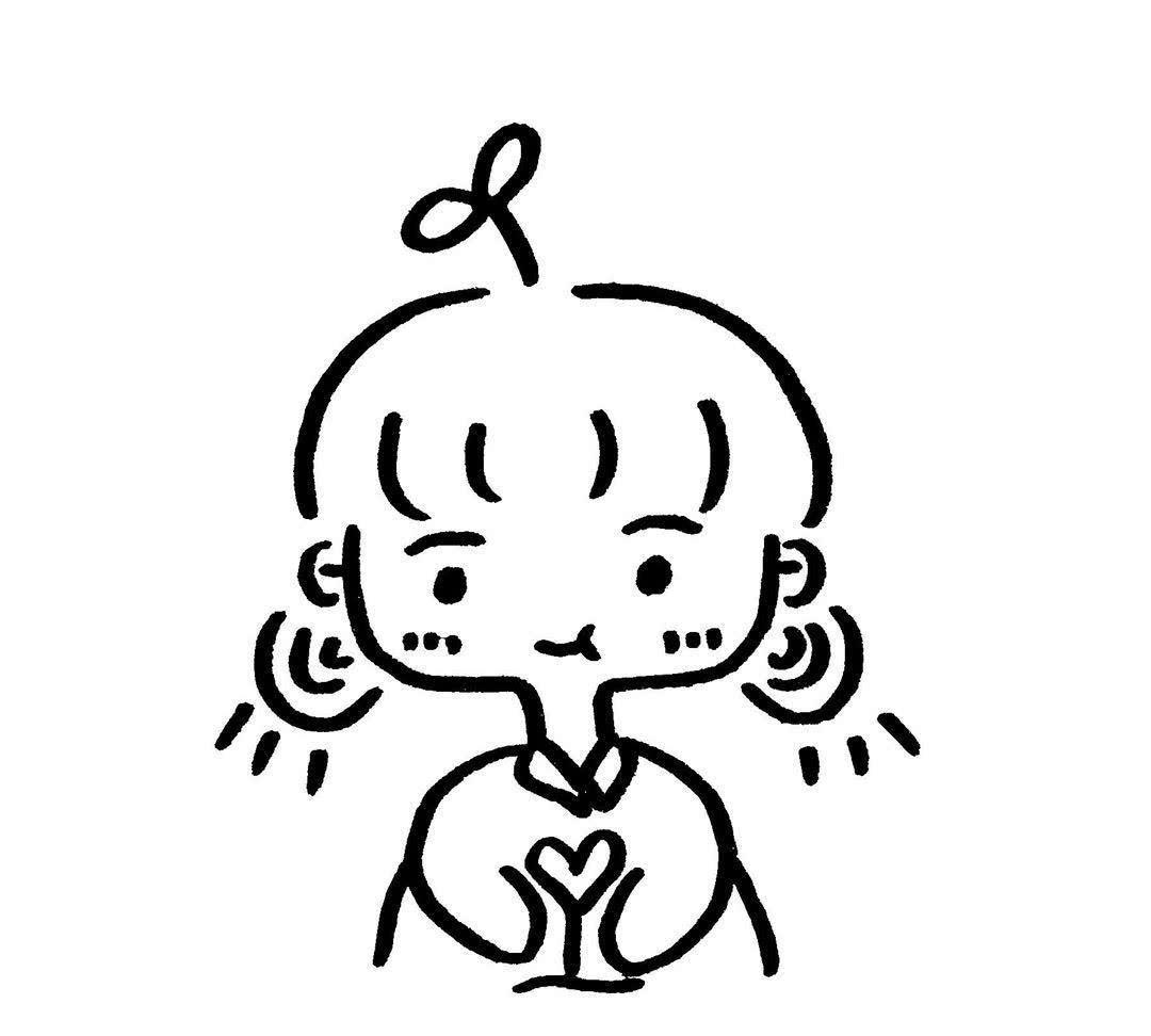 软萌可爱·简笔画头像:我想要一生,两人,三餐,四季,细