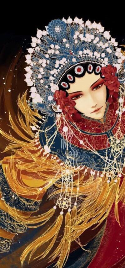 三尺红台万事入歌吹——动漫古风京剧花旦头像,壁纸欣赏