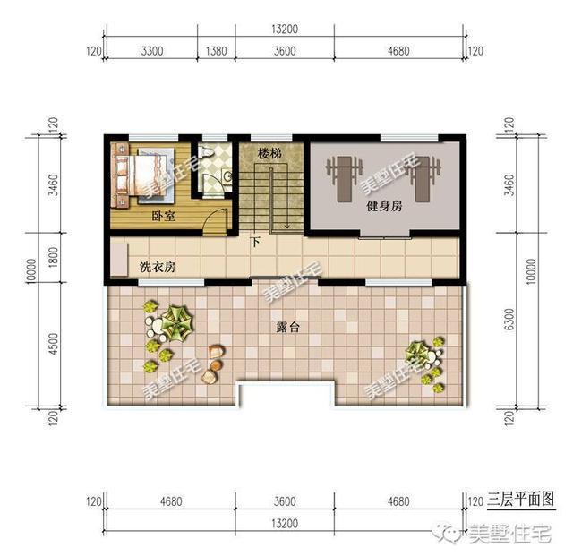 老人房,客厅,餐厅,厨房 还带有堂屋和神位 这样的设计真的很适合农村图片
