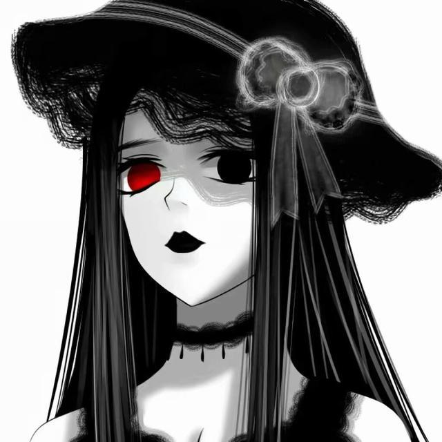 暗黑动漫女生头像:世界太阔 你的欢笑不止为我