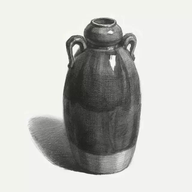 陶罐结构素描步骤图