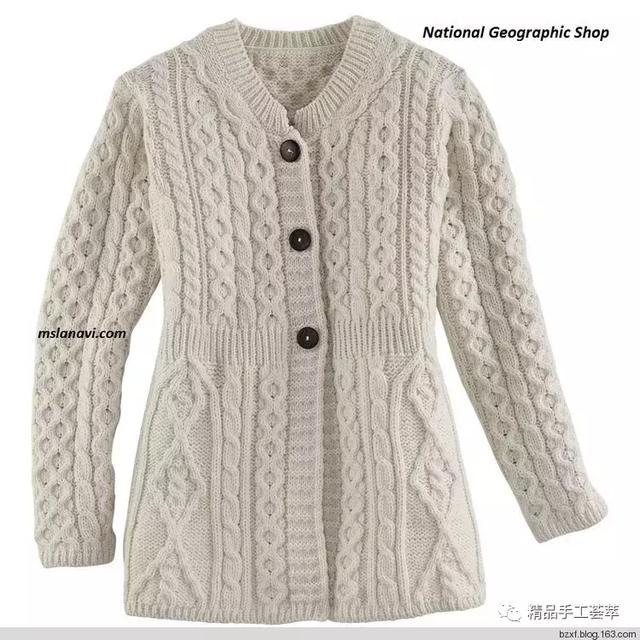 一些大牌的毛衣外套编织花样和衣服款式图