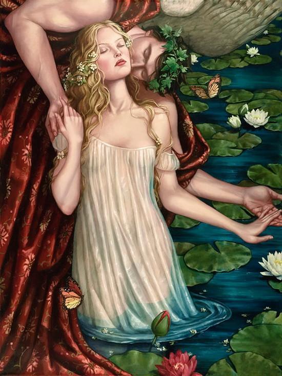 美国女画家人体油画中的女子妩媚性感,勾人心魄!
