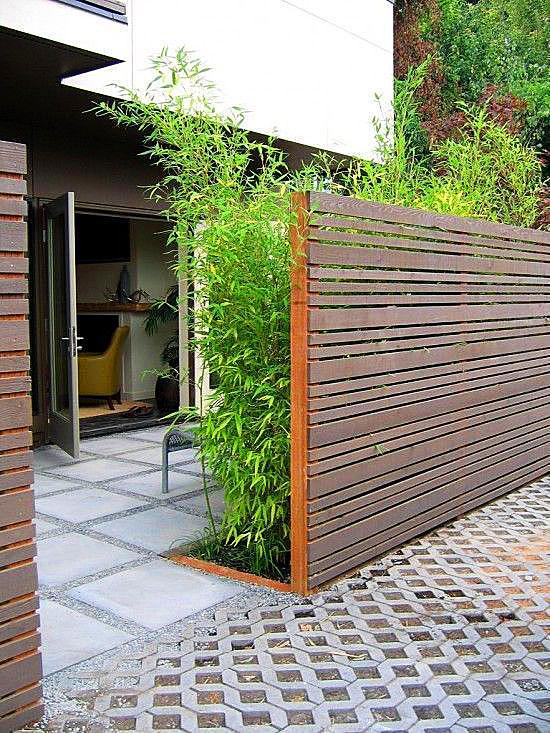 竹子装饰墙壁效果图