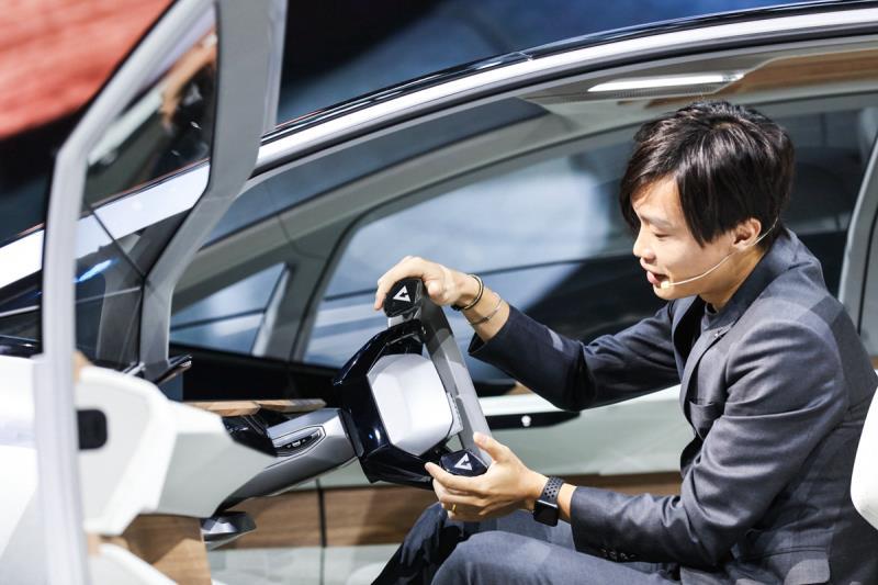 """方向盘可收起,车内可种""""草"""",奥迪AI:ME概念车全球首秀"""