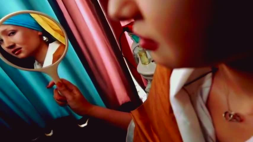 整容级化妆术 重庆少女化妆模仿戴珍珠耳环的少女
