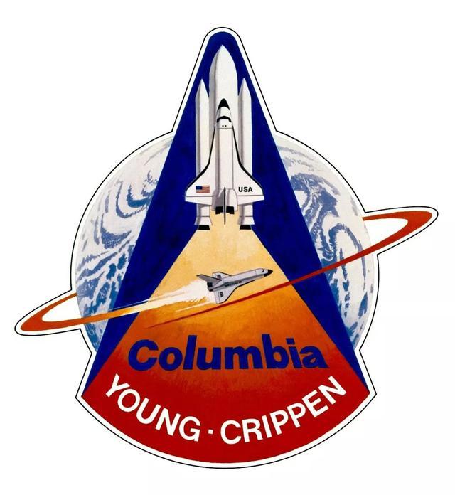 另外nasa还有一些任务徽章,就像这第一次航天飞机的发射.