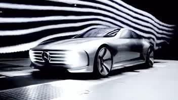奔驰概念车IAA,空气动力学设计,外轮毂形状可根据时速而变化