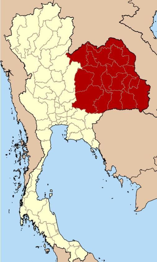 泰国东北部人均GDP只有2100美元,人口占泰国