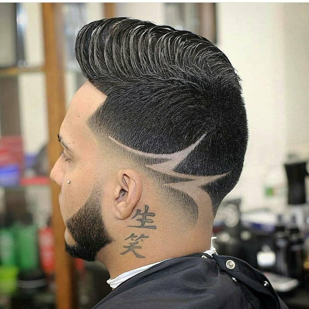 型男剪雕刻发型,比纹身还酷图片