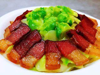 春节菜谱,腊肉炒儿菜,鹅蛋非常不错做法腊肉,动手试试食谱的孕妇一道图片
