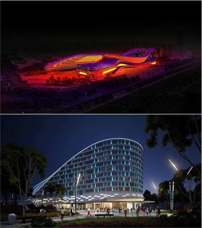 中铁青岛世界博览城会议会展夜景照明方案介绍