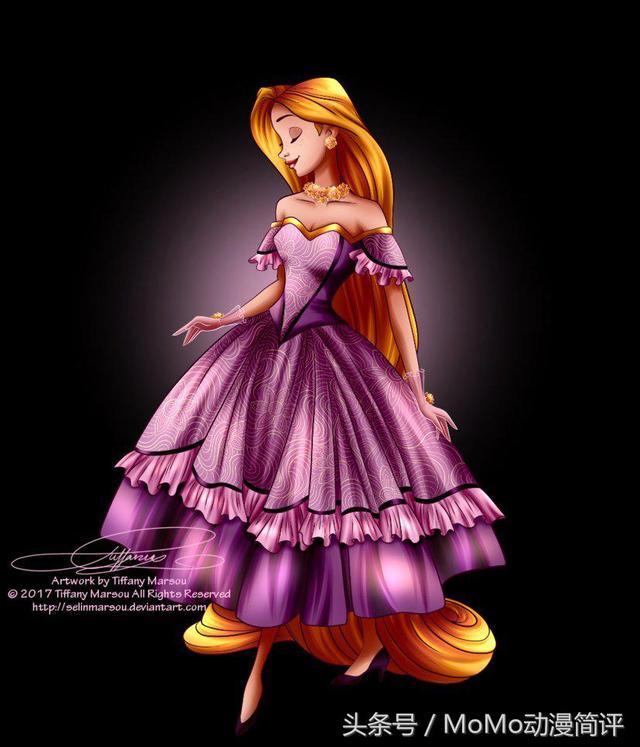 黑色背景是一个非常好的选择,长发公主是我最喜欢的童话故事之一,她图片