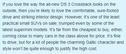 给DS 3加了两个门,DS 3 Crossback能拯救DS品牌的销量吗