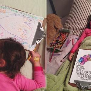 父母为让宝宝睡觉让其睡前画画