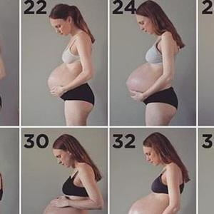 挪威女子记录怀孕身材变化走红