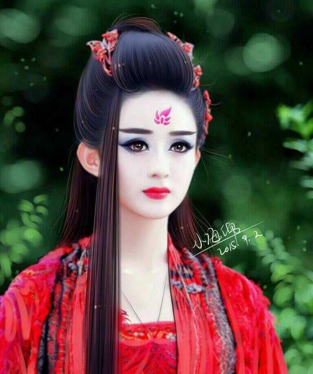 赵丽颖古装剧造型美呆了,其她女星都比不上