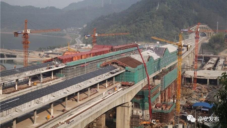 杭黄铁路千岛湖站露出面纱 千岛湖去杭州将只需45分钟