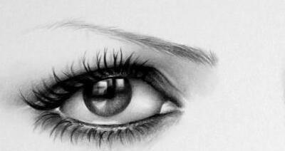 精美铅笔画:眼睛