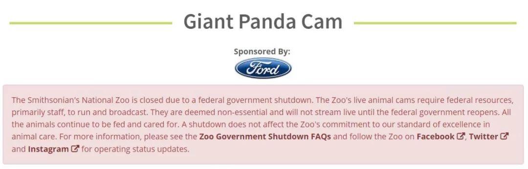 """美国政府关门,""""直播熊猫""""画面被掐!美国网友炸锅了"""