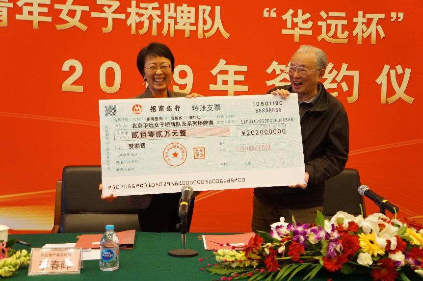 华远地产助力桥牌梯队建设 北京青年女子队勇创佳绩