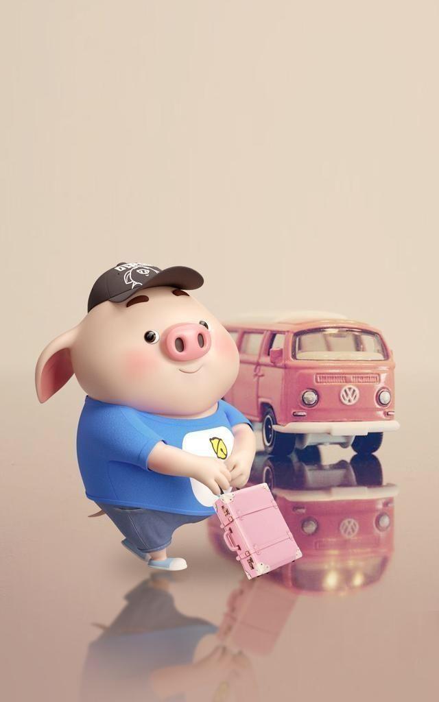 26张超级可爱的猪猪手机高清壁纸,祝你诸事顺利!你喜欢哪一张