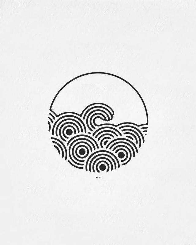 手绘-一组简单的黑白小插画