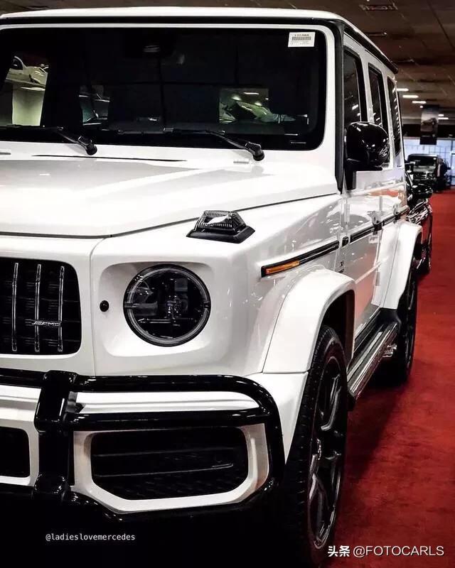 实拍|全新奔驰AMG G63 北极白,专治各种不服,搞台不?