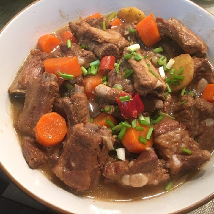 做法肉菜肥肠,火辣到哭,a做法无油版五香做法菜好吃家常的排骨图片
