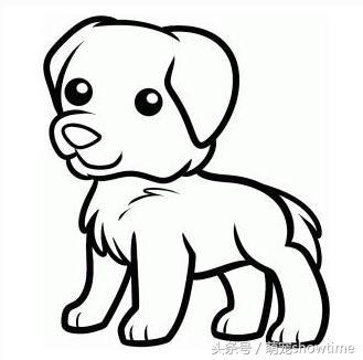 看看这些狗狗的简笔画,哈士奇,阿拉斯加,泰迪