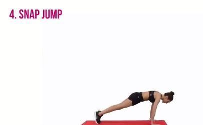 (动作五)俯卧抬腿45秒:腹部持续紧张,不要塌腰