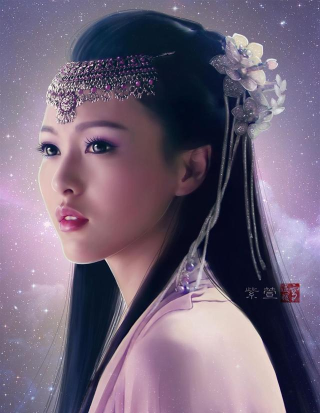 盘点那些影视剧中的疆族天仙美女,刘亦菲小彩旗黄磊太太都在其中