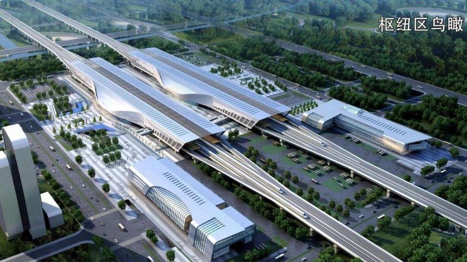 高铁长沙西站引入城铁和高铁线 或成省内第一大高铁站