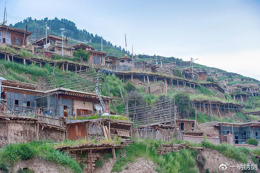 甘南有座悬挂在山坡上的百年藏寨,成为藏族长寿第一村
