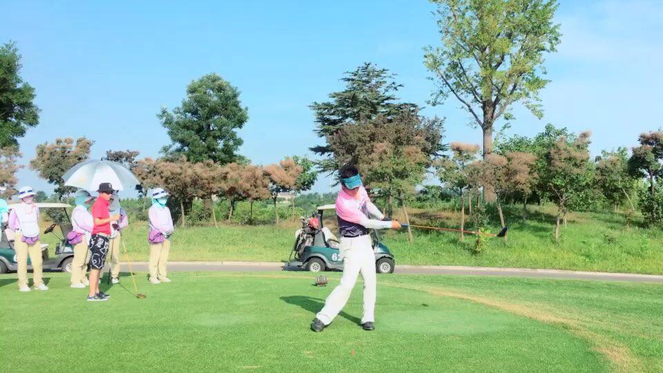视频-高尔夫围棋赛绿坪激战 选手自信挥杆尽显风采