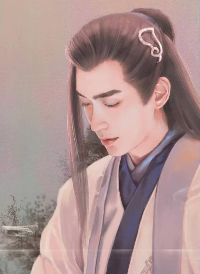 男星古装手绘图,鹿晗唯美,罗云熙盛世美颜,王凯看了让