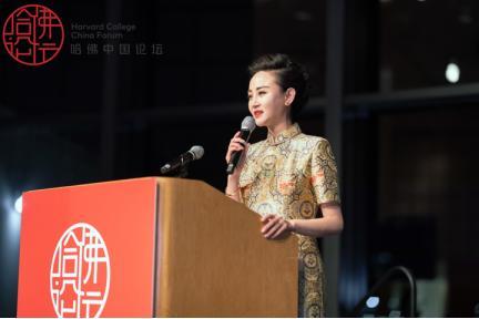 储兰兰哈佛大学演讲 新京剧中国论坛亮相