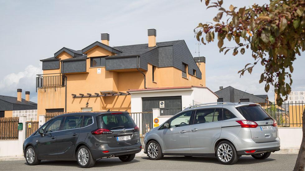 Ford Grand C-Max和Opel Zafira Tourer:测试驱动的小型货车