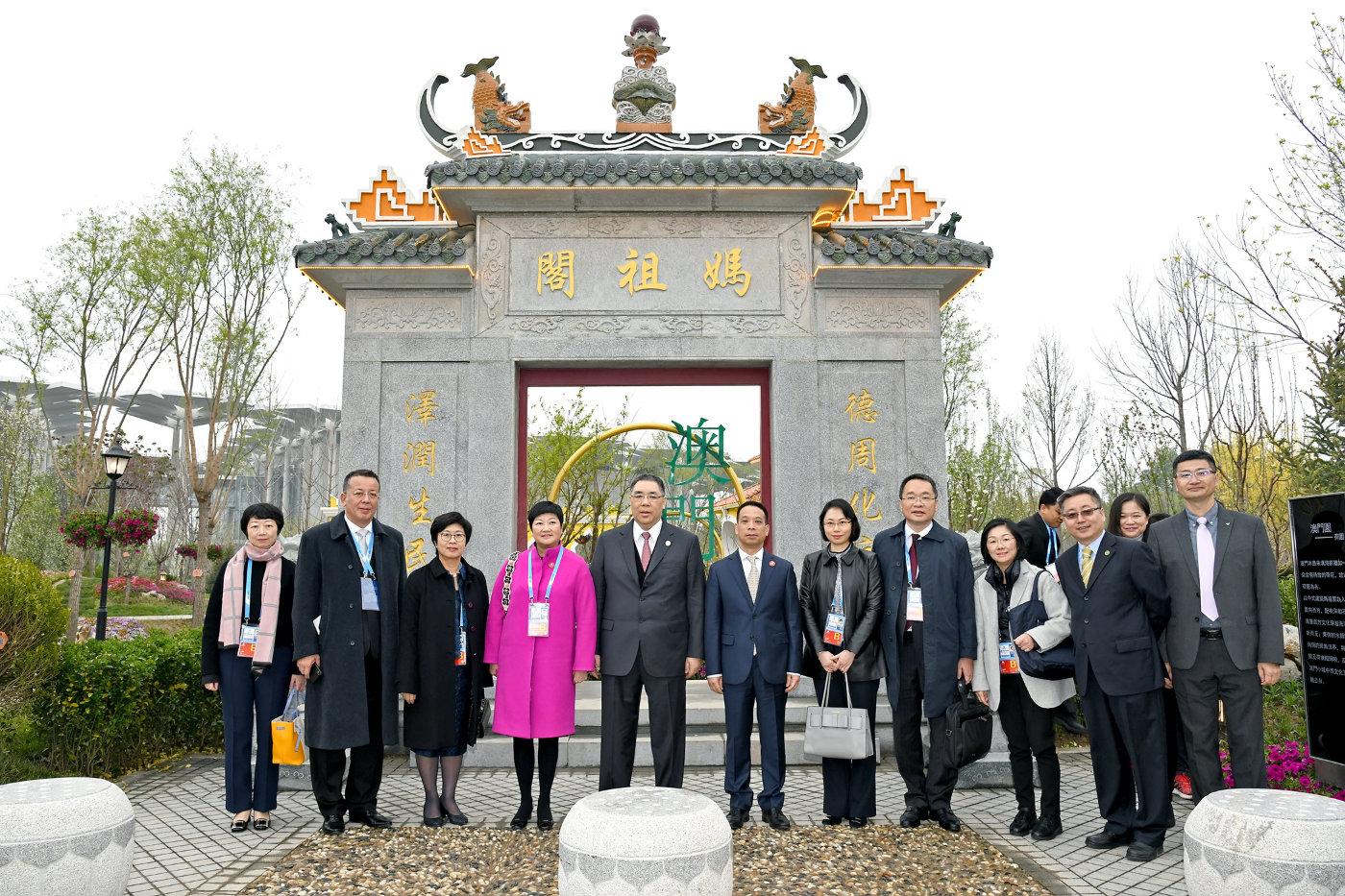澳门行政长官崔世安出席2019北京世园会开幕式并参观澳门园