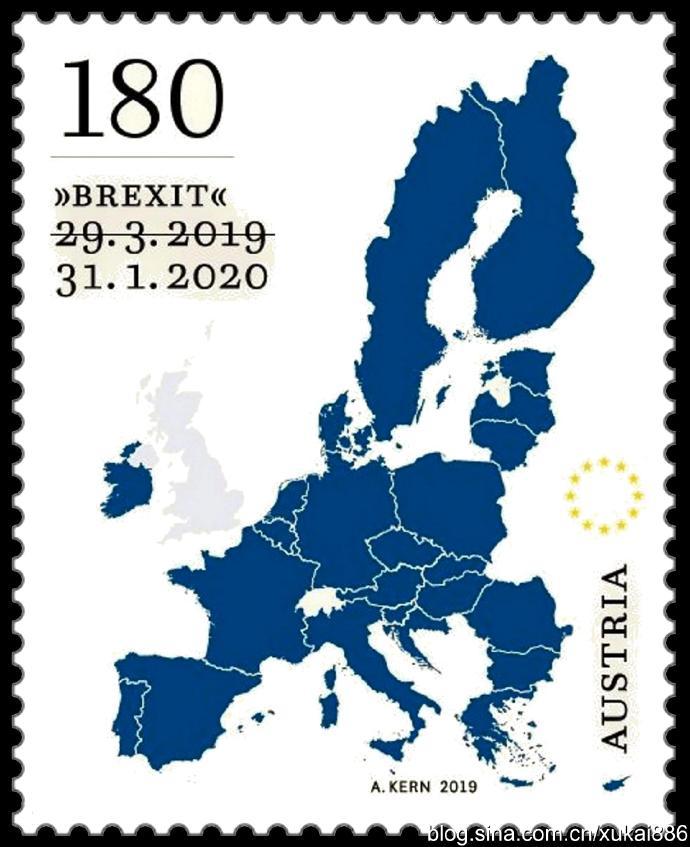 奥地利发行英国脱欧纪念邮票
