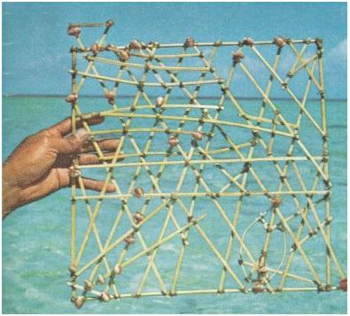 马绍尔群岛的木枝航海图(图)