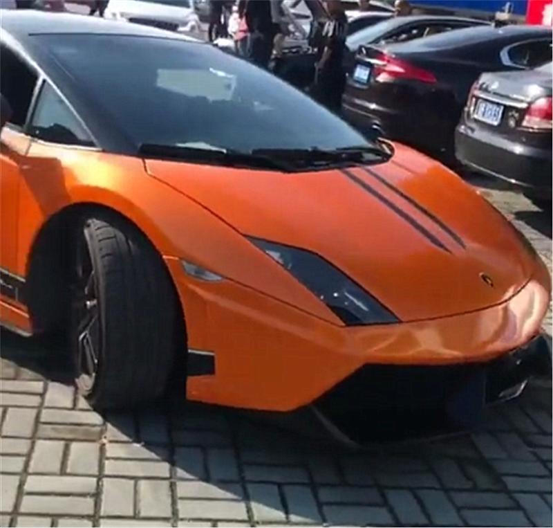 """328万兰博基尼亮相,乃是产量最高车型,车尾还贴""""以和为贵"""""""