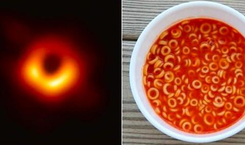 意大利面还是甜甜圈?第一张黑洞照曝光,却被网友玩坏了