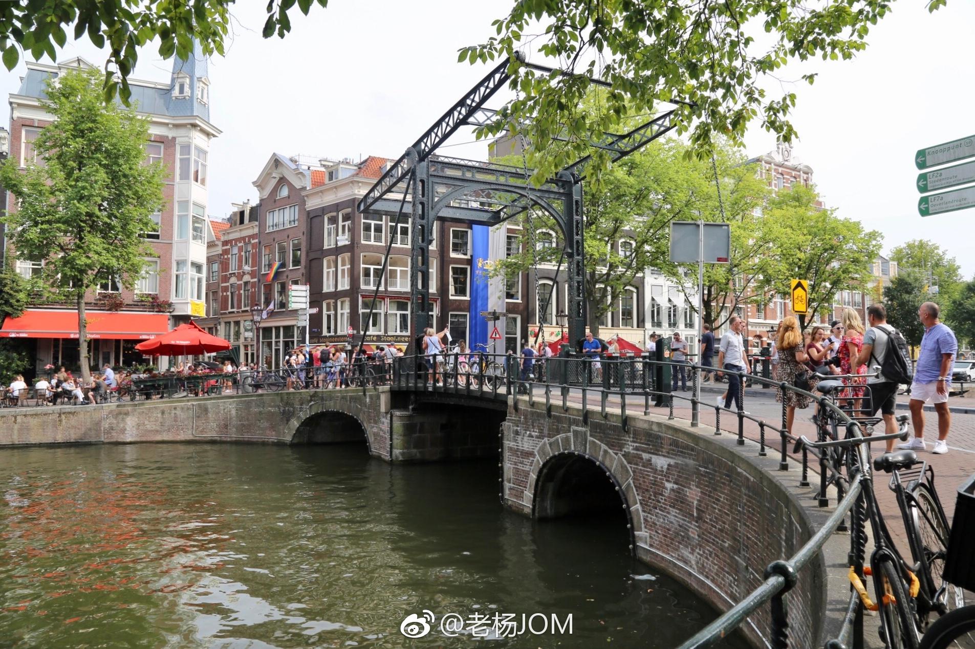 有水有桥的荷兰小城