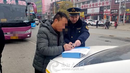 邓州至南阳客运班车违规营运 市交通运输执法局对该线路进行检查