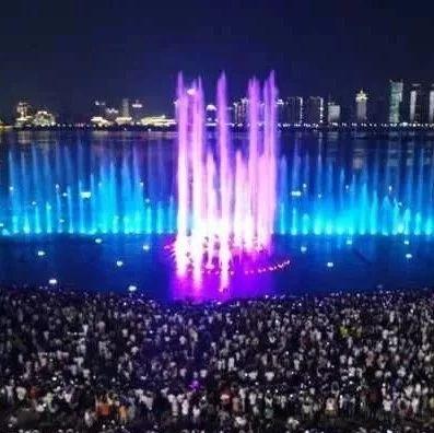 南昌秋水广场音乐喷泉正式开放 每天两场